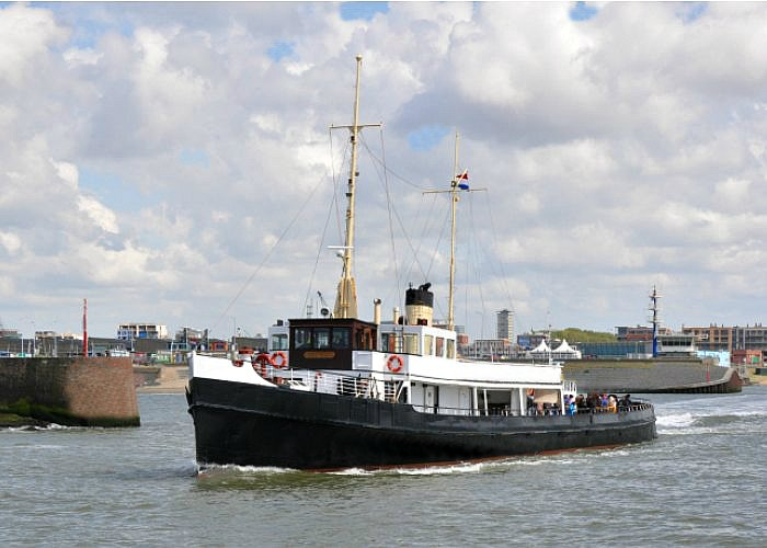asverstrooiing per schip Scheveningen